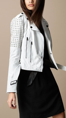 Studded Leather Biker Jacket