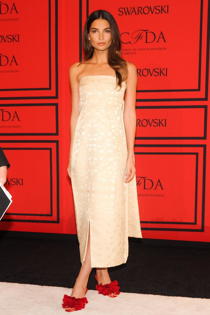 Lily Aldridge, in The Row, at the 2013 CFDA Awards. Source: Neil Rasmus/BFAnyc.com
