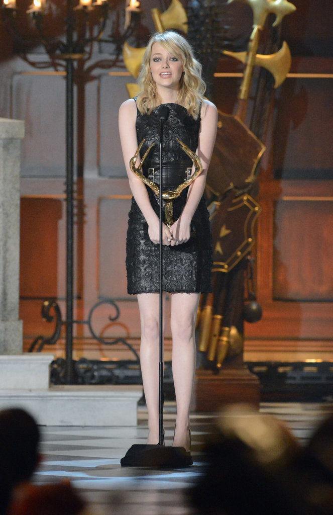 Emma Stone took the stage at the 2012 Guys Choice Awards.