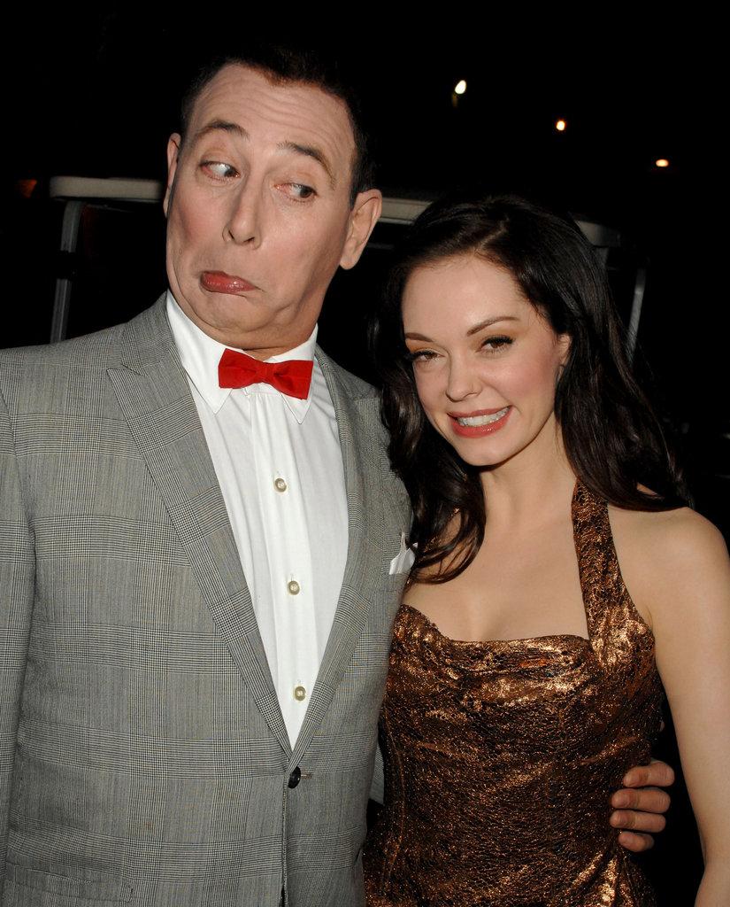 Pee-wee Herman joked around with Rose McGowan at the 2007 Guys Choice Awards.