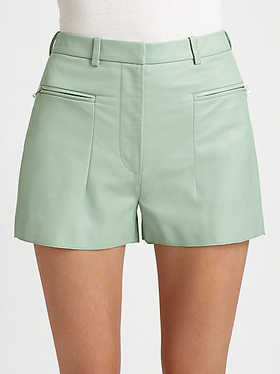 3.1 Phillip Lim Leather Shorts
