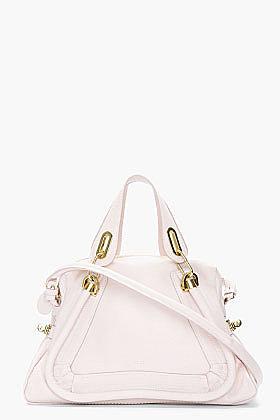 CHLOE Nude pink calfskin Paraty Shoulder Bag