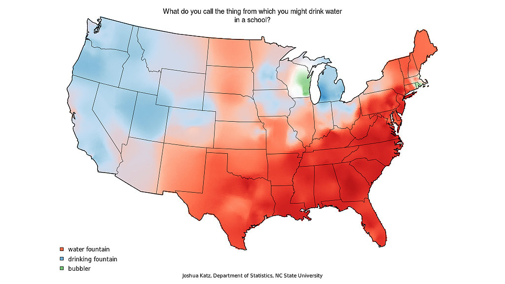 Clever US Dialect and Word Usage Maps