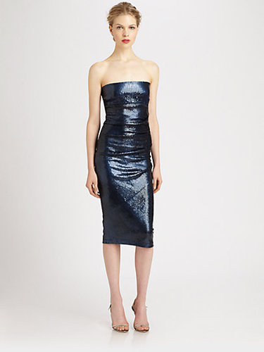 Donna Karan Sequined Tube Dress