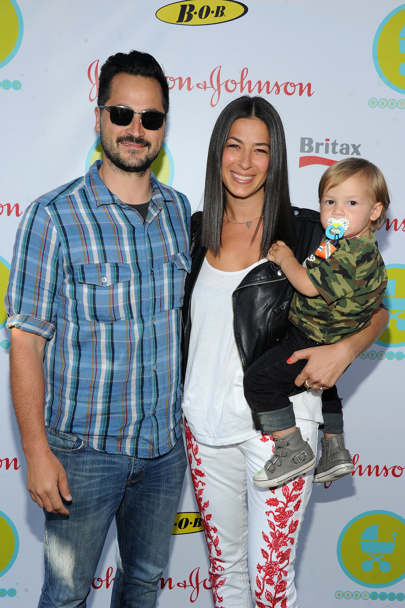 Rebecca Minkoff and Gavin Bellour brought their son to the 2013 Baby Buggy Bedtime Bash.