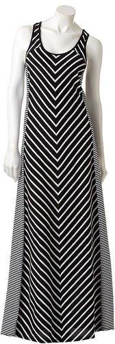 Lc lauren conrad striped maxi dress