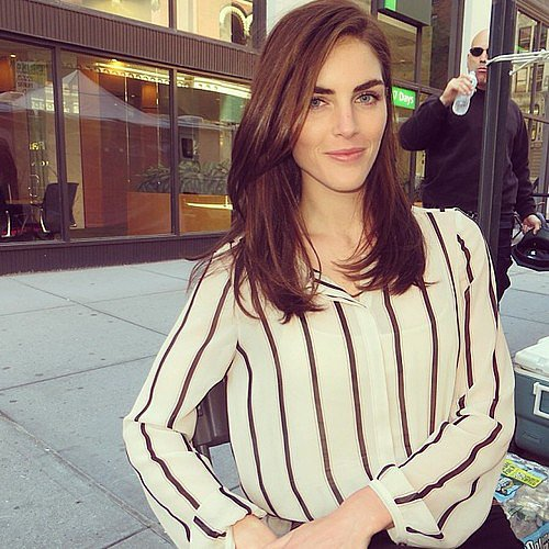 Hilary Rhoda struck a pose in chic black and white stripes. Source: Twitter user HilaryHRhoda