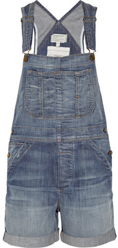 Current/Elliott The Shortall stretch-denim overalls