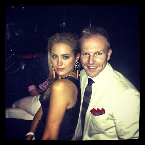 Jesinta Campbell enjoyed a night out with her friend and makeup artist Michael Brown. Source: Instagram user jesinta_campbell