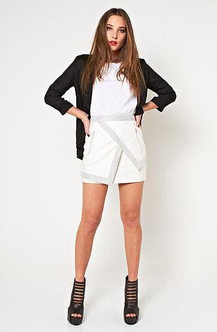 I've Been Loving Skirt - White/Silver
