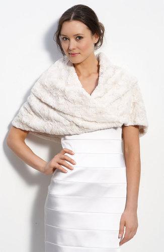 Eliza J Faux Fur Stole
