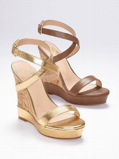 Colin Stuart Ankle Strap Wedge Sandal
