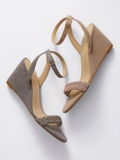 VS Collection Braided Mid-wedge Sandal