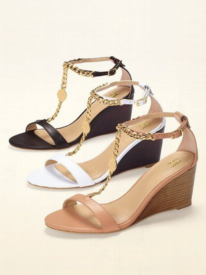 VS Collection Chain T-strap Wedge Sandal