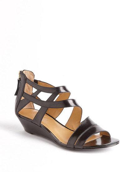 NINE WEST Vocals Leather Wedge Sandals