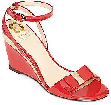 Monet® Becca Patent Leather Wedge Sandals
