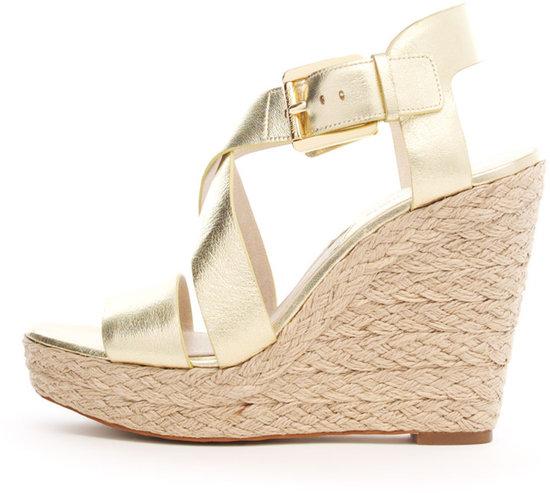 Michael Kors Giovanna Leather Espadrille Wedge Sandal