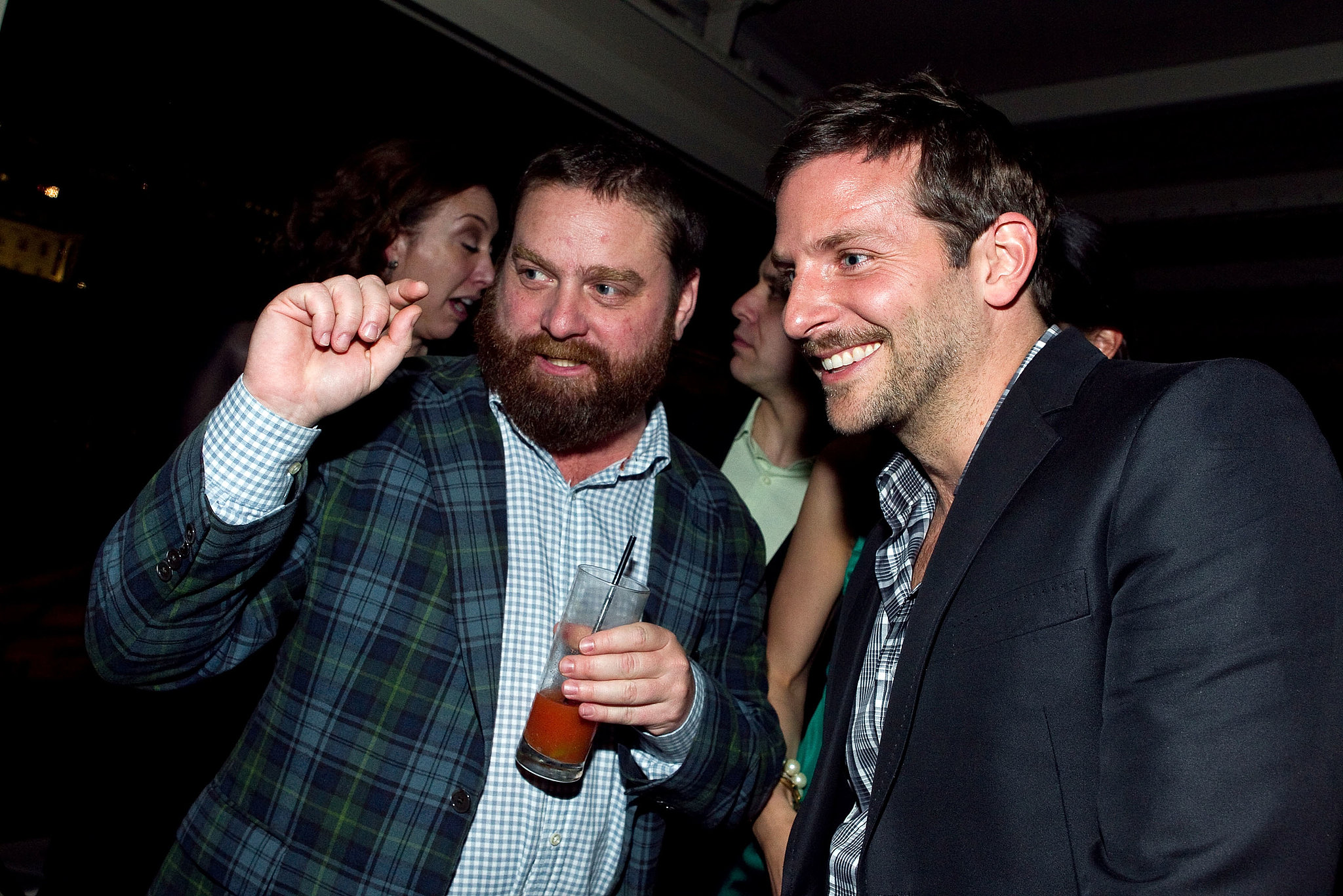 Zach Galifianakis and Bradley Cooper were friends long before they starred together in The Hangover. Bradley even made an appearance on Zach's short-lived VH1 talk show, Late World, back in 2002 and was one of the first stars to appear on his Funny or Die Between Two Ferns series.