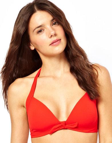 Calvin Klein Solid Retro Halter Bikini Top