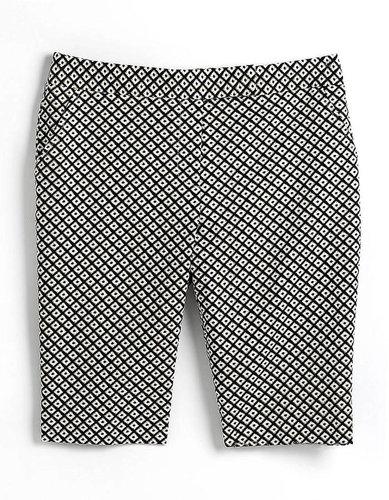 RAFAELLA Classic Fit Printed Bermuda Shorts