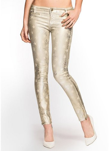 7-Zip Star Metallic Foiled Jeans