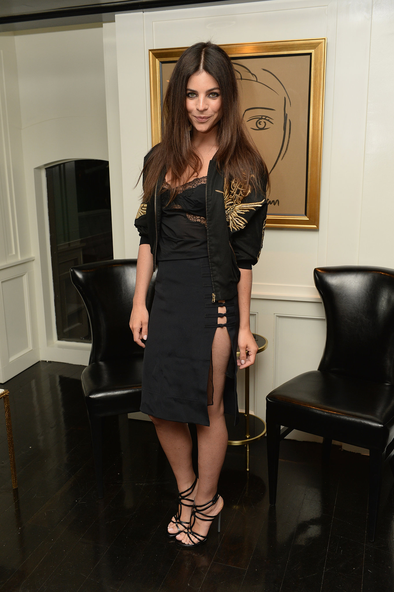 Julia Restoin Roitfeld, in Emilio Pucci, at the dinner she and Casadei hoste