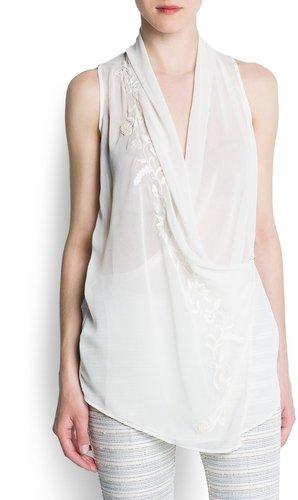 Chiffon wrapped blouse