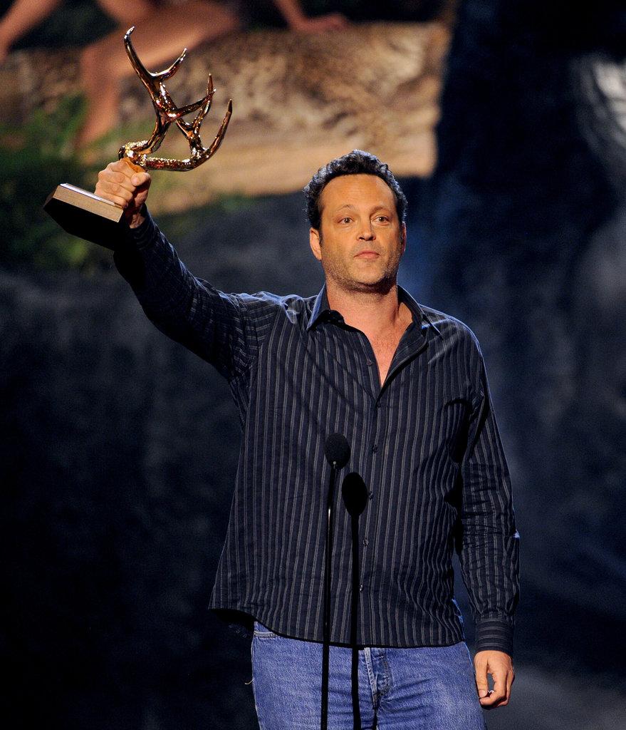 Vince Vaughn accepted an award.