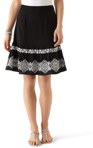Embroidered Flippy Skirt