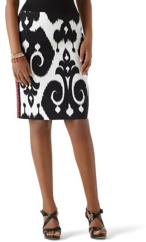 Ikat Faille Pencil Skirt