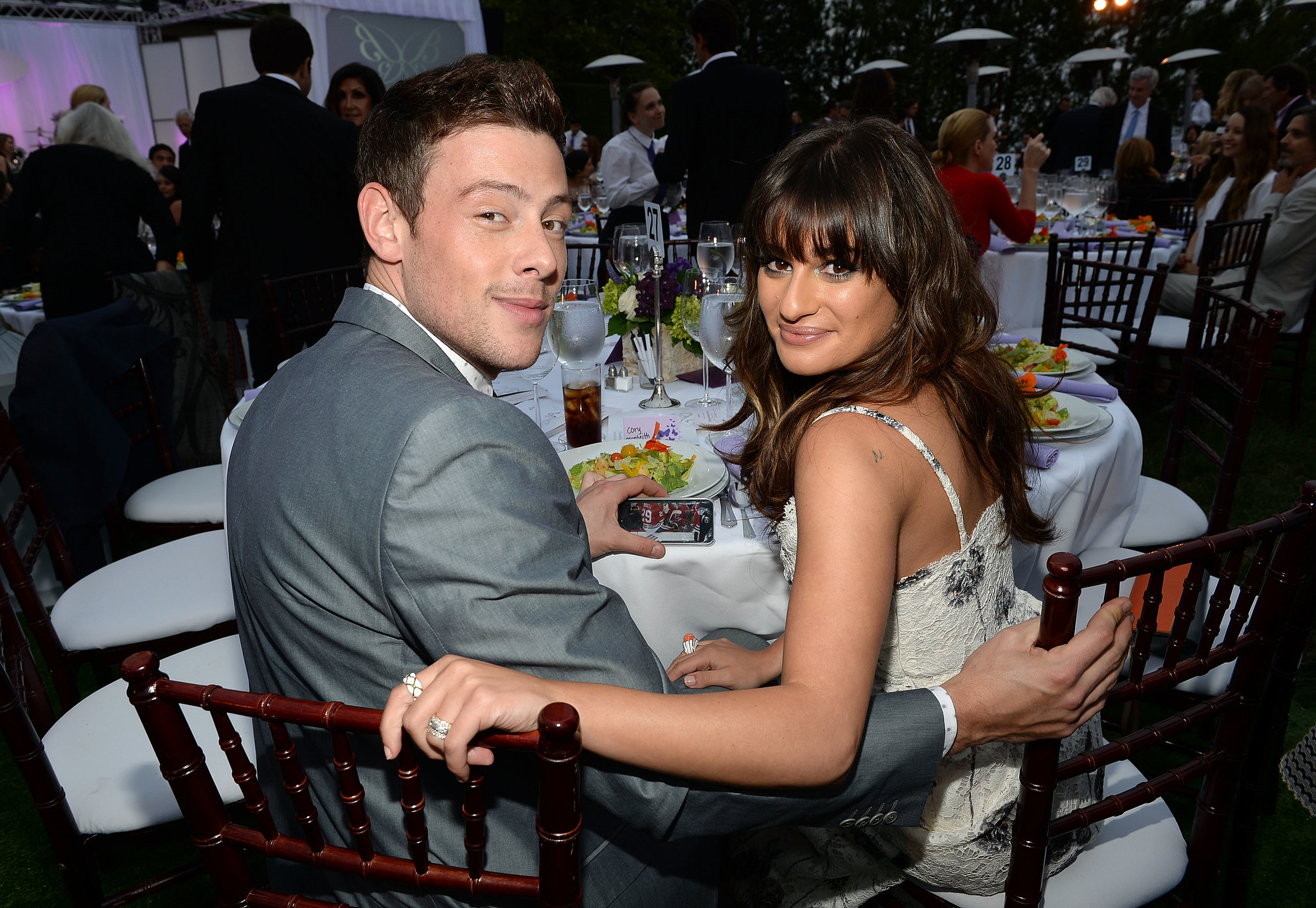 Cory Monteith Returns to the Red Carpet With Lea Michele