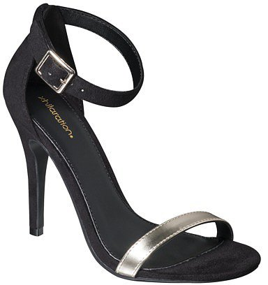 Women's Xhilaration® Susy Strappy Heel - Black