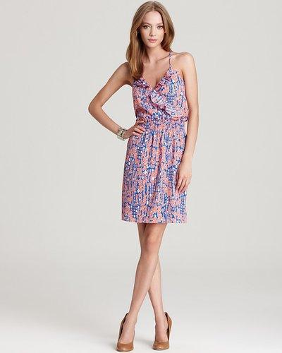 Aqua Ruffle Front Dress - Big Joy