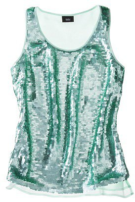 Mossimo® Women's Tank w/ Green Sequin Paillettes -Honeydew Green