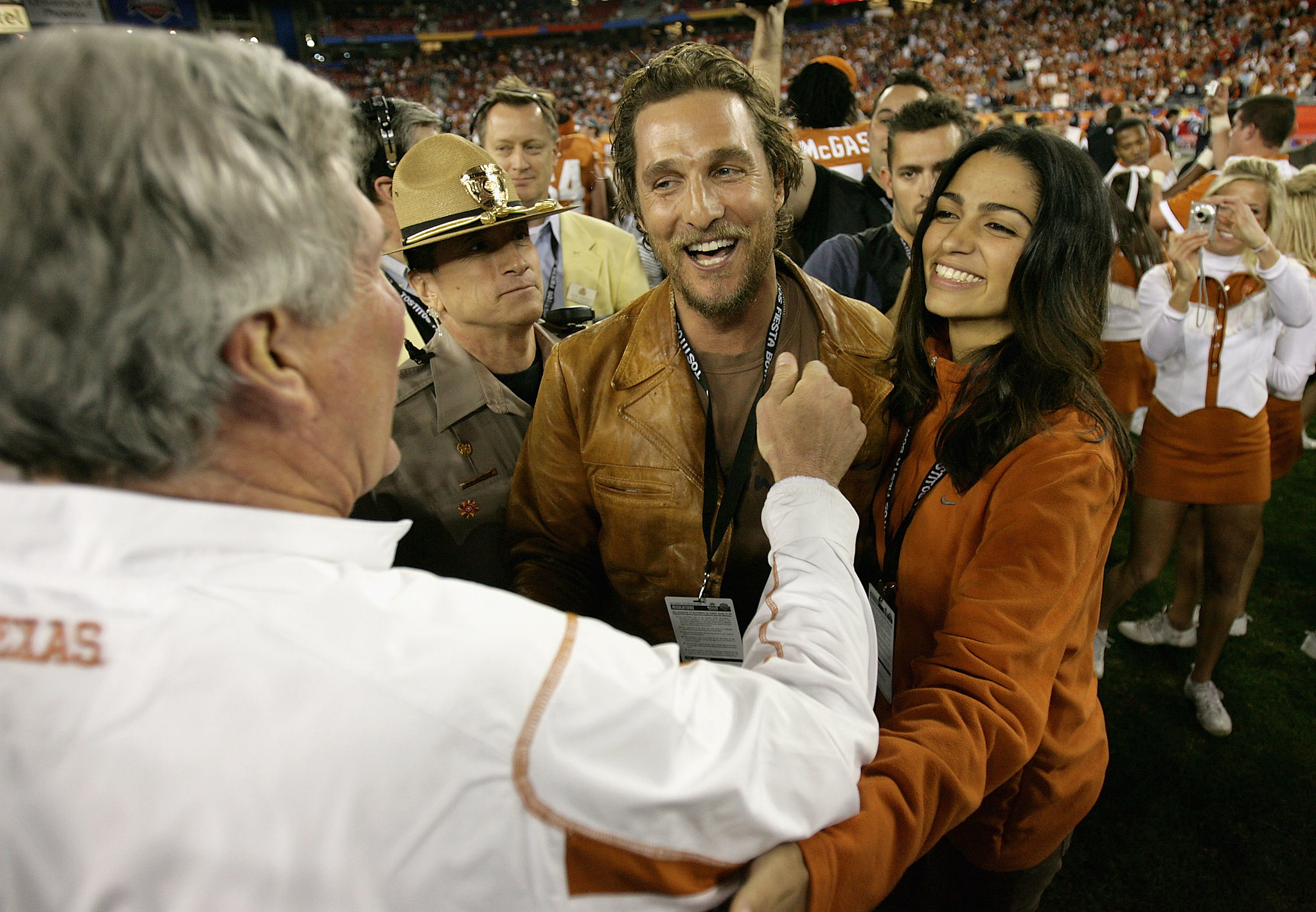 They watched a Texas Longhorn game in Arizona in January 2009.