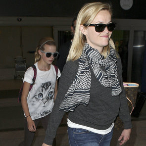 Reese Witherspoon and Ava Return From Paris Tour