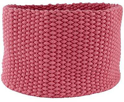 Large Pink Kneatly Knit Rope Bin