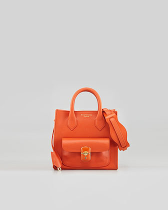 Balenciaga Padlock Mini Crossbody Bag, Light Orange