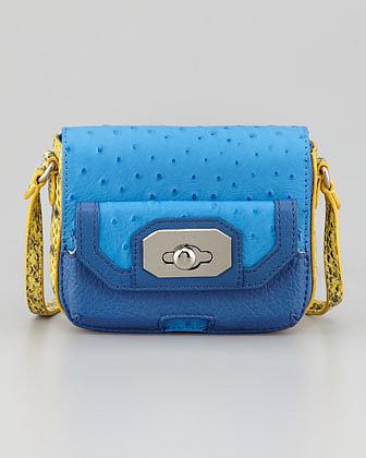Rafe Monique Phone-Pocket Crossbody Bag, Blue