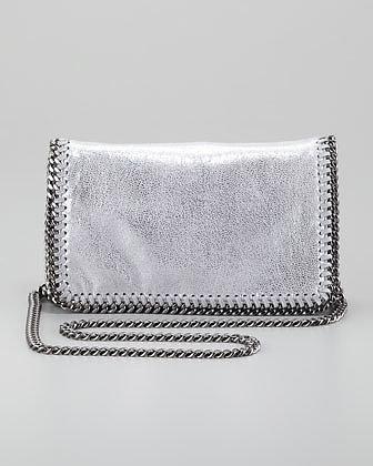 Stella McCartney Falabella Crossbody Bag, Silver