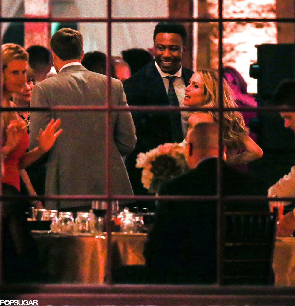 The couple and their guests had some fun at Houston Station after the ceremony.