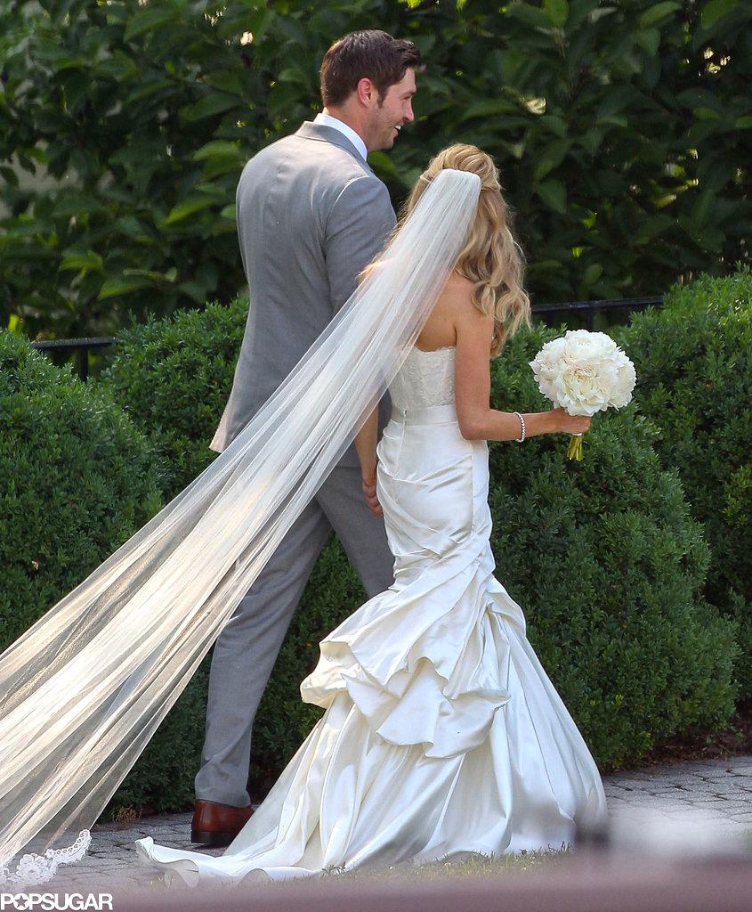 Kristin Cavallari's veil went on for days!