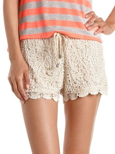 Tie-Waist Crochet Short