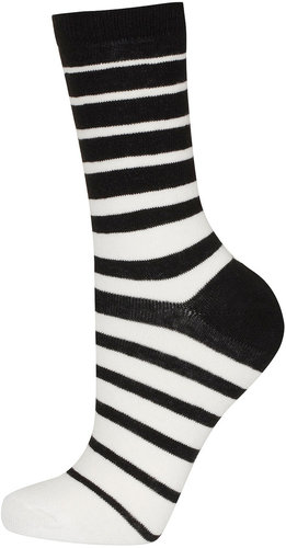 Black And White Stripes Socks