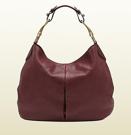 Soft Icon Bordeaux Leather Hobo