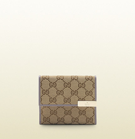 original GG canvas flap french wallet