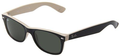 Ray-Ban - 0RB2132 New Wayfarer 52 (Black Tan) - Eyewear