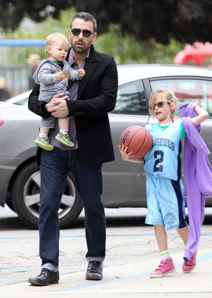 Ben Affleck carried Samuel and chatted with Violet during a family trip to an LA park in March.