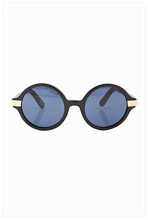 Elizabeth and James Wooster Sunglasses in Black and Gold