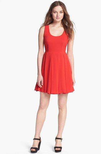 BB Dakota 'Audry' Cutaway Fit & Flare Dress